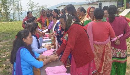 ४२६ महिलाको निःशुल्क क्यान्सर परीक्षण