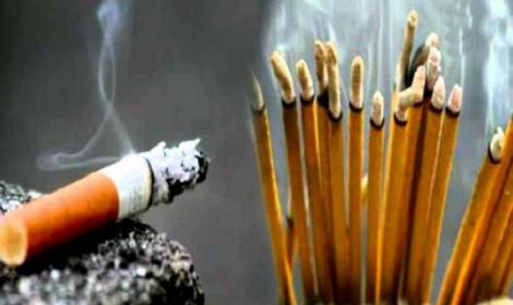 स्वास्थ्यको लागि अगरबत्तीको धुँवा चुरोटको धुँवाभन्दा बढी हानिकारक